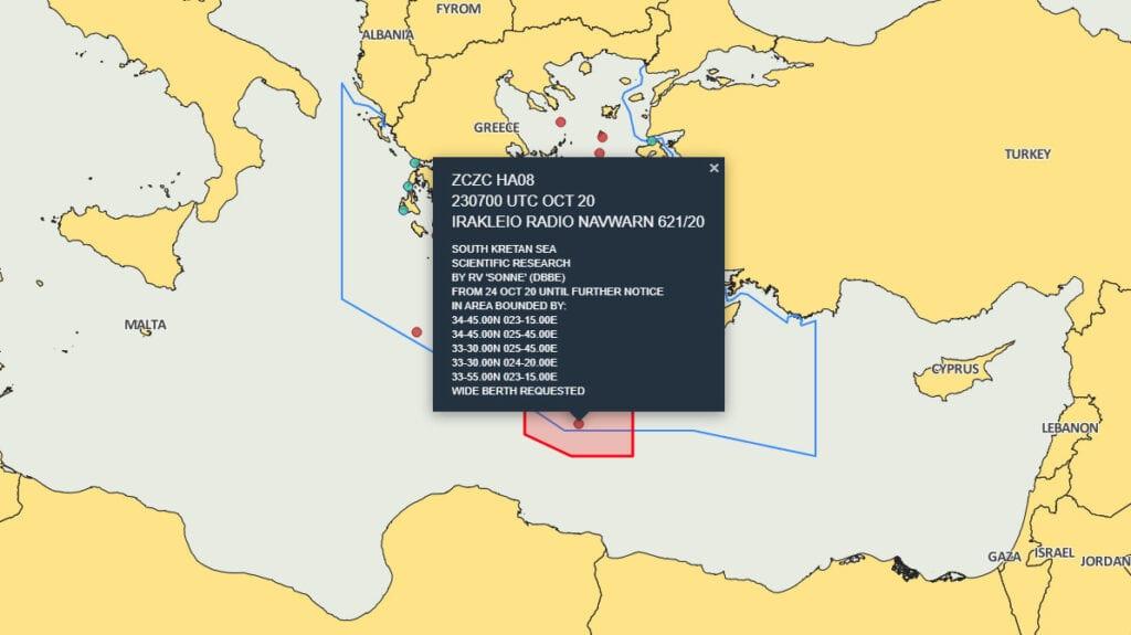 , Κίνηση ματ – Ξεκίνησαν οι έρευνες νοτιοδυτικά της Κρήτης, NEMESIS HD