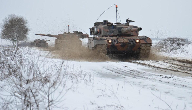 Βγήκαν εξω τα Άρματα στα χιόνια για άσκηση του Δ' Σώματος Στρατού