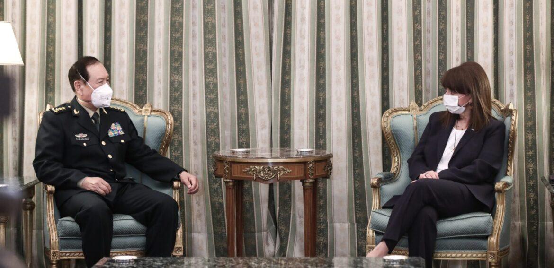 Πρόεδρος της Δημοκρατίας Σακελλαροπούλου Υπουργό Εθνικής άμυνας Κίνας, Η Κίνα επιδιώκει ισχυρές σχέσεις με την Ελλάδα | Ο Κινέζος Υπουργός Άμυνας στην Αθήνα, NEMESIS HD