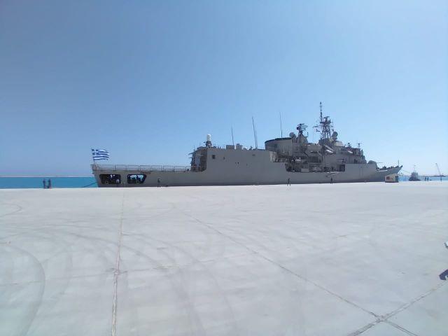 Η Φ/Γ ΣΑΛΑΜΙΣ το πρώτο Ελληνικό Πολεμικό πλοίο στη νέα Αιγυπτιακή βάση!
