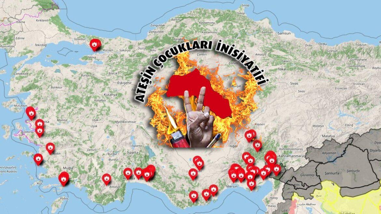 """Πιθανή ανάληψη ευθύνης για τις φωτιές από τα """"ΠΑΙΔΙΑ ΤΗΣ ΦΩΤΙΑΣ"""" μεταδίδουν Κουρδικά ΜΜΕ"""