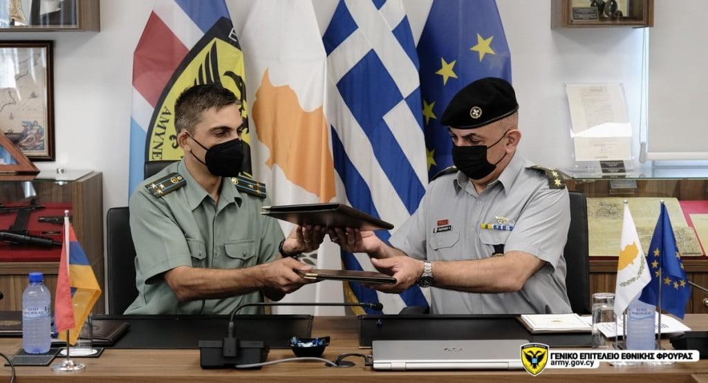 ΘΕΤΙΚΟ ΒΗΜΑ: Αμυντική συνεργασία με Αρμενία υπέγραψε Ελλάδα & Κύπρος