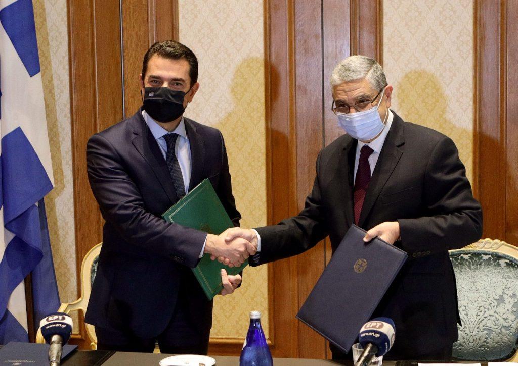 Ελλάδα και Αίγυπτος υπέγραψαν για την ηλεκτρική διασύνδεση τους
