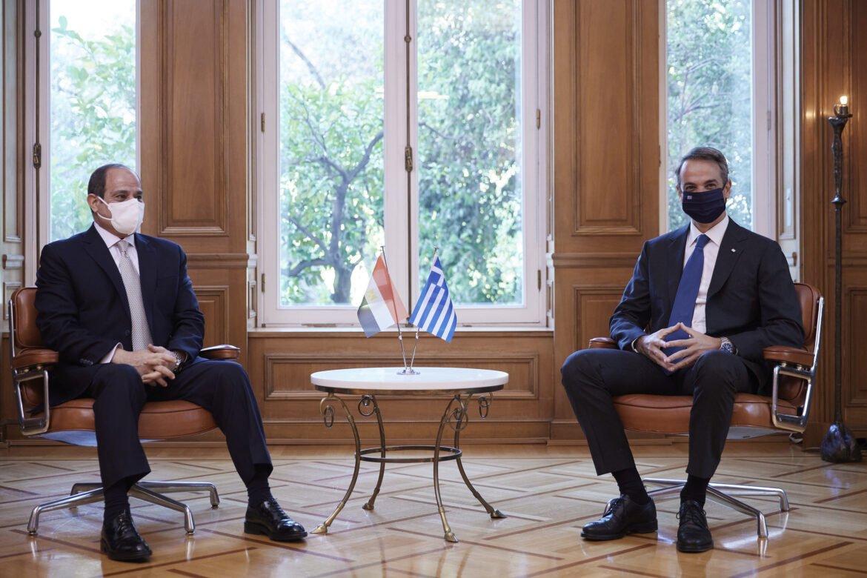 Επίσκεψη Αλ-Σίσι στο Μαξίμου: Άριστη συνεργασία στην Αν.Μεσόγειο
